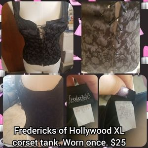 Fredericks of Hollywood size Xl corset tank